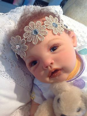"Adeline Lovely Lifelike Sculpt By Ping Lau 20"" Reborn Baby Full Arms / Legs"