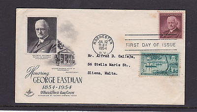 UNITED STATES OF AMERICA 1954 FIRST DAY COVER Addressed FDC USA