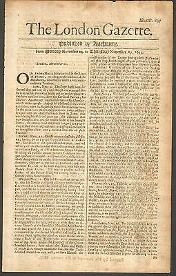 1673 The London GAZETTE - very early origibal issue