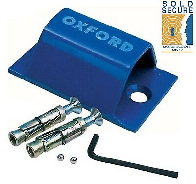Oxford Motorcycle Motorbike Brute Force Bolt Down Ground Wall Anchor -OF439