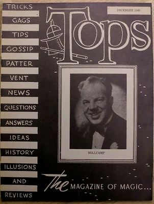 Tops: The Magazine of Magic: 1948 - December - Bellcamp - Tricks, Gags, Reviews