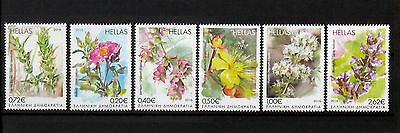 GREECE, GREEK STAMPS 2016 17th set, blooming herbs of the greek land, MNH