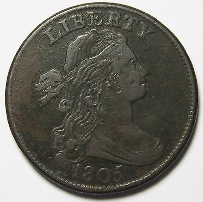 1805 Draped Bust Large Cent Scarce Coin Lot# MZ 1104