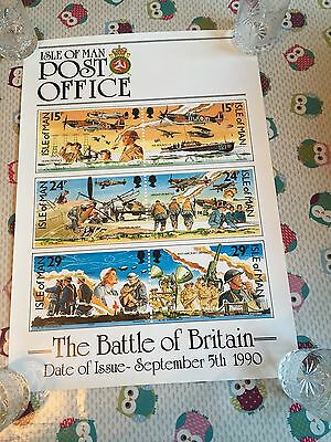 Isle of Man Post Office First Day Cover Poster Battle Of Britain 1990 Blank !!!
