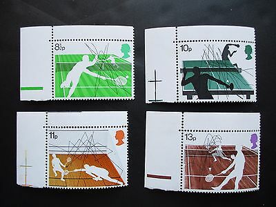 RACKET SPORTS 1977 - complete set GB unmounted MINT POSTAGE STAMPS