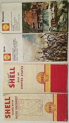 Vintage Shell Gas Station Maps