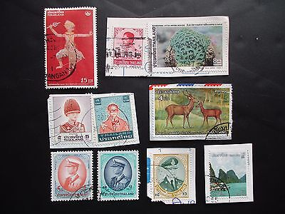 THAILAND used Postage Stamps franked on and off paper