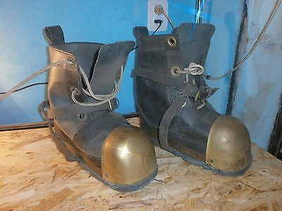 Soviet USSR navy Diver's Boots shoes Couple