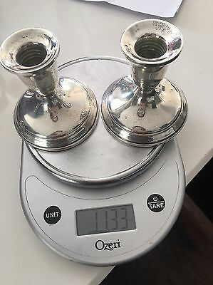 towle sterling Silver Candlesticks Pair