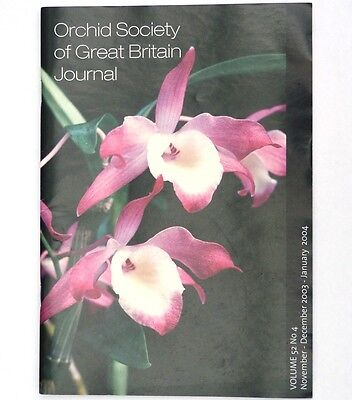 Orchid Society of Great Britain Journal Volume 52 No 4, 2003 - Dendrobium
