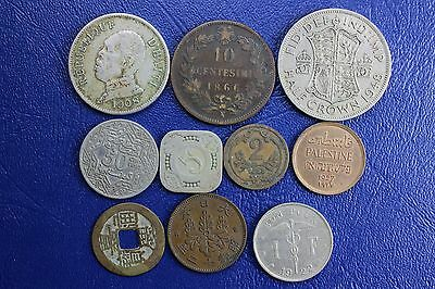 10 Foreign Coins--10 Different Countries--All Readable * See Countries Below  #5