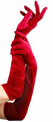Velveteen Gloves Costume Accessory