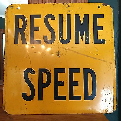 "VTG Heavy Metal ""MEN WORKING-RESUME SPEED"" Double Sided Sign 18x18"
