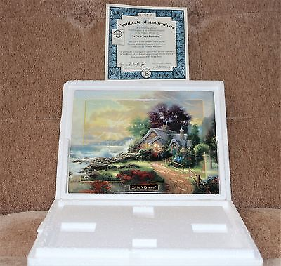 Thomas Kinkade's Seasons of Reflections Set of 4 Collector Plates with COA