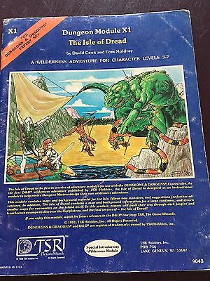 X1 - The Isle of Dread   Dungeons & Dragons Module  D&D TSR-9043 (1981)