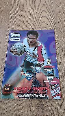 Bradford Bulls v Huddersfield Giants 1998 Rugby League Programme