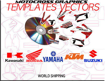 Template Motocross CD contains vecto personnalisable-EPS-lista-r-vettorr