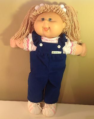 2004 Play Along Cabbage Doll, Yarn golden hair, original outfit & tennis shoes