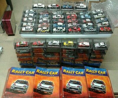 Complete Set of 70 Rally Cars 1/43 from the DeAgostini Magazine Collection.