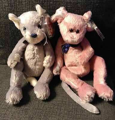TY ATTIC TREASURE Cromwell & Fairchild Mice will play,While Cat's Away NWT plush