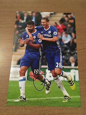 Diego Costa  Nemanja Matic Chelsea Fc The Blues 12X8 Hand Signed Photo Autograph