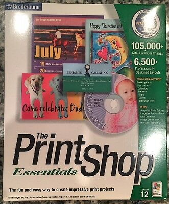 Printshop 12 Essentials (Pc) Sealed Retail Box - Free U.s. Ship - Win10, 8, 7 Xp