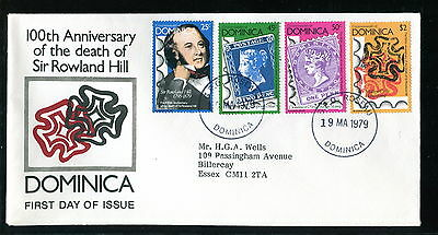 1979 Dominica FDC. Sir Rowland Hill Death Anniversary. First Day Cover