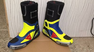 VR 46 Motorbike Racing Custom Leather Boot Shoes All Sizes