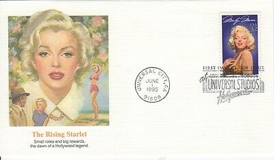 Marilyn Monroe First Day Cover - 1995 USA - THE RISING STARLET