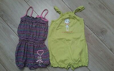 Lot 2 combishorts Orchestra 18 mois fille