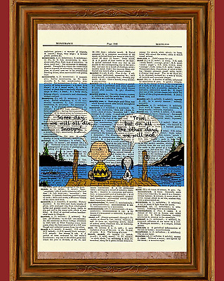 Snoopy and Charlie Brown Dictionary Art Print Picture Poster Peanuts Quote