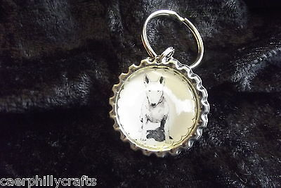 Bull Terrier Keyring by Curiosity Crafts