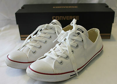 CONVERSE ~ Chuck Taylor Unisex White Dainty Slimline Canvas Low Top Sneakers 9
