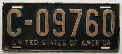 U S Forces in Germany 1950 License Plate NICE QUALITY # C-09760