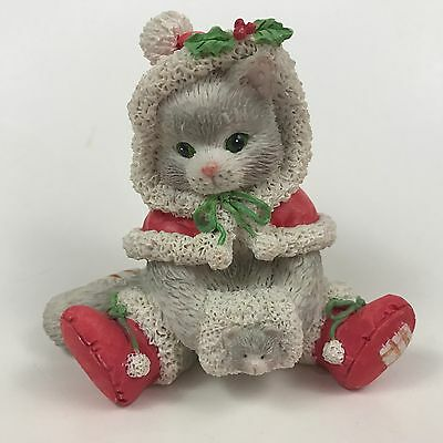 """ENESCO CALICO KITTENS """"Wrapped In The Warmth Of Friendship"""" 1993  Cat Figurine"""