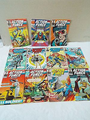 Marvel Comics Job Lot Action Force Monthly 1980's