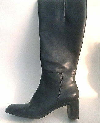 Talbots Ladies Boots   Black Leather    Size   8M