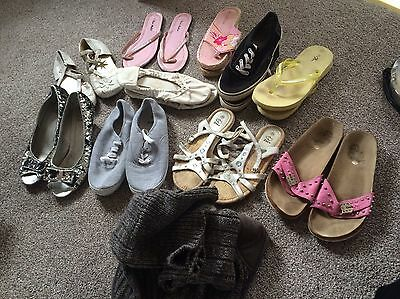 joblot of womens shoes mainly size 5,6 and 7