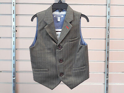 Boys Size 4, 5, 6, 7, & 18/20 Brown Dress Vest
