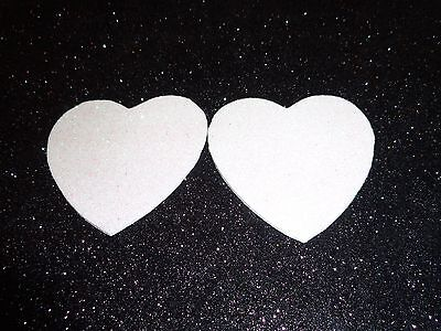 Womens Pasties/ Nipple Covers Water Resistant White Glitter Hearts