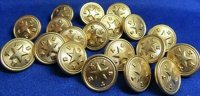 Post WWII Texas Buttons Lot Of 20 by Waterbury FANTASTIC CONDITION