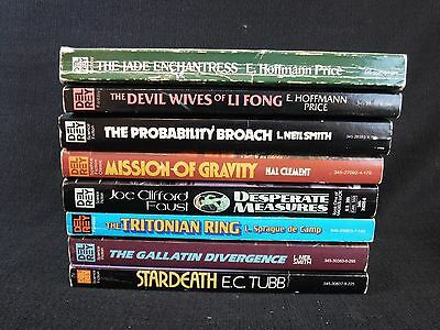 Vintage Del Rey Pulp Sci Fi Science Fiction Weird Novels Books LOT OF 8