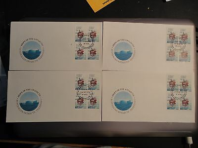 1979-80 Aat Ships 4 Base Cancel Fdc Covers Set - 20 Covers Blocks 4