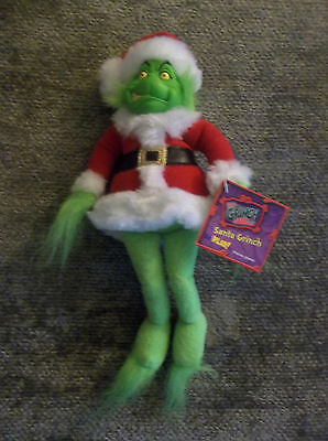 NWT 2000 Santa  Grinch Christmas Plush Collectible New Grinch Doll Dr. Suess Toy