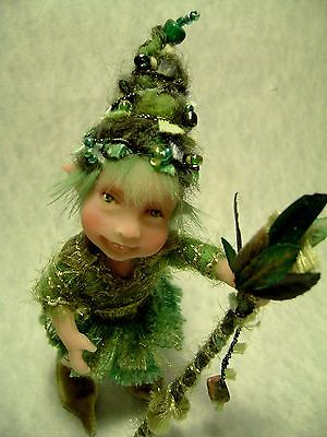 ~Patia~ A Wee  Woodland Green Sprite By Poppenmoon