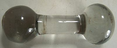 Antique 2.5 Pound Medical Hospital Glass Dumbbell-Sock Darner-What is it??