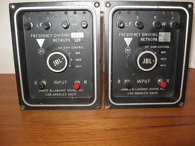 Pair JBL LX5 Frequency Dividing Network Crossovers C50 Olympus Paragon & Others