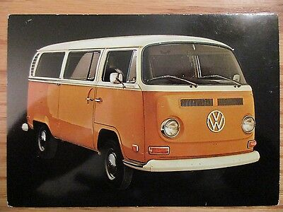 * 1972 Volkswagen VW Bus Station Wagon Postcard Original Excellent Condition