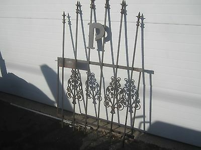 """Antique Cast Iron Architectural Salvage Gate with the Letter """"P"""" 59 x 36"""