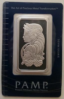 1oz Pamp Suisse Silver Bar - Fortuna (In Assay)